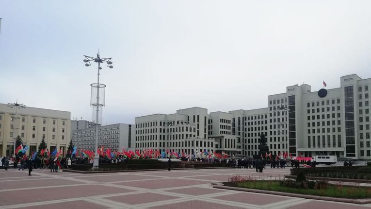 Прихильники Лукашенка відзначили річницю більшовицького перевороту