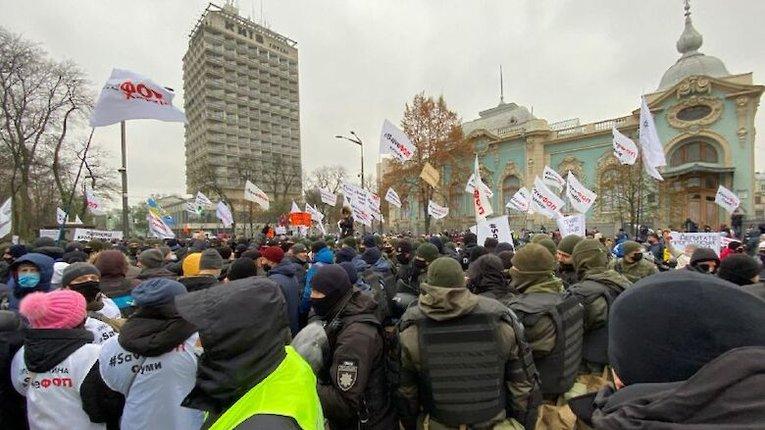 Акція руху SaveФОП: підприємці знову проривалися в Раду, силовики жорстко протидіяли