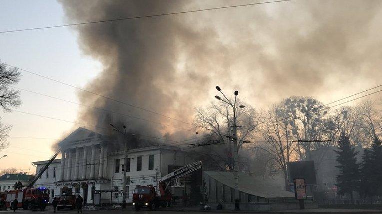 Пожежа в історичному середмісті Полтави забрала одне життя