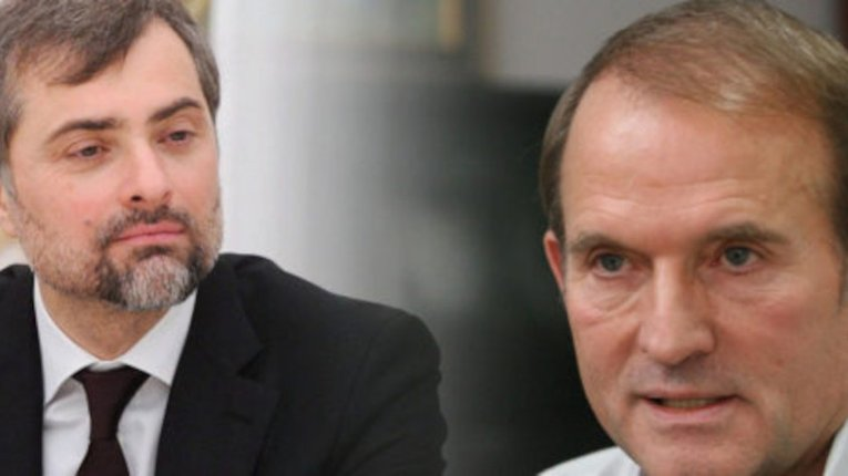 Сурков і Медведчук у 2014 році обговорюють поставки електроенергії до Криму і обмін полоненими