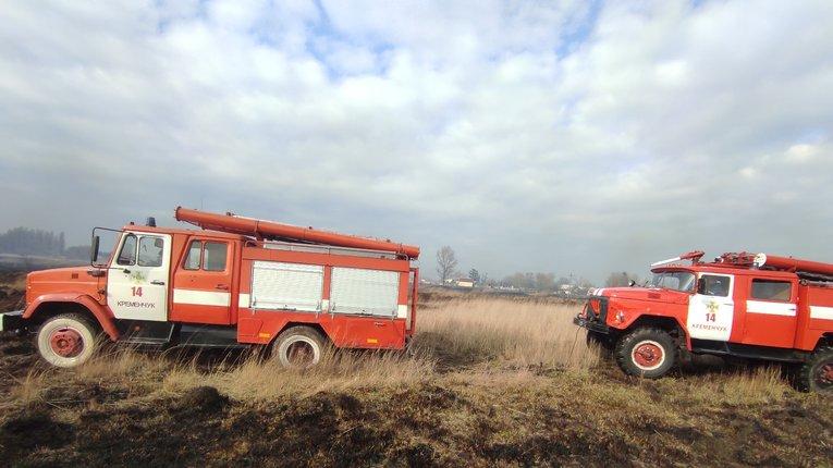 На Полтавщині за день вигоріло 14 га території