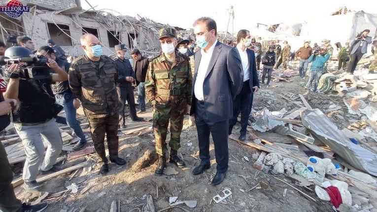 Місто Ґянджа після обстрілу вірменською артилерією (жовтень 2020 року)