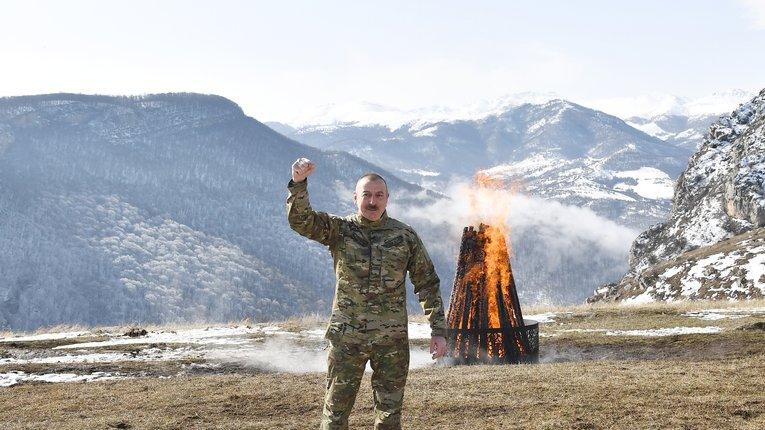 Сигнал для Вірменії: подружжя Алієвих відсвяткувало Навруз у Нагірному Карабасі