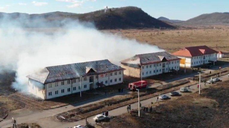 На Закарпатті згоріла новобудова, де мали мешкати переселенці