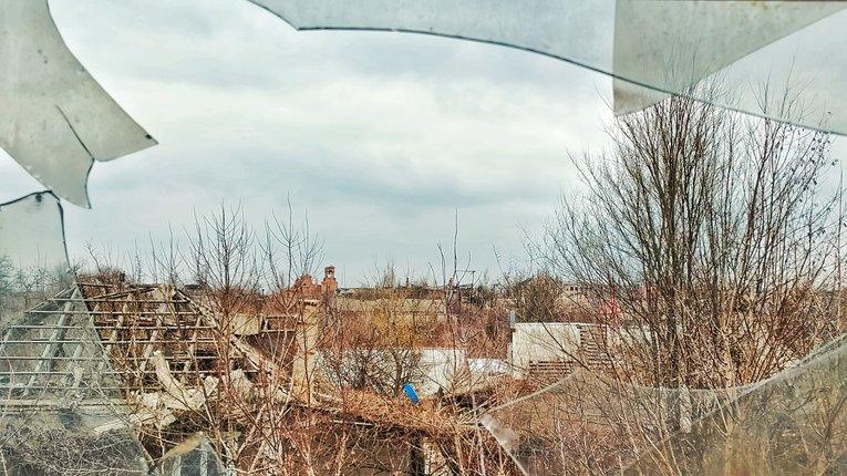 Селище Піски, Донецька область (березень 2021 року)