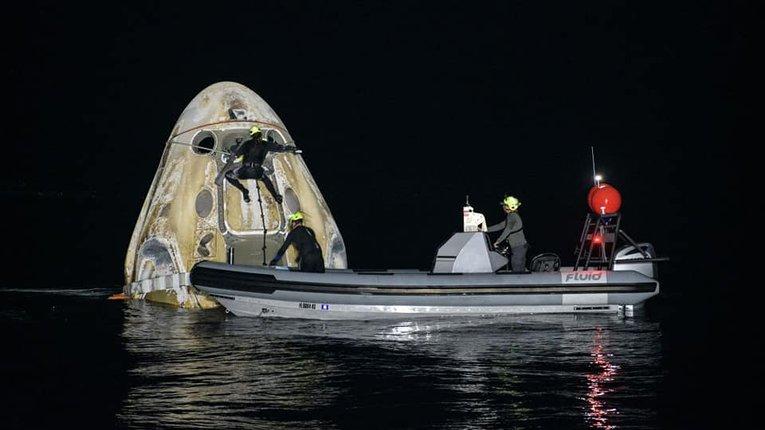 Астронавти місії Crew-1 успішно повернулися на Землю