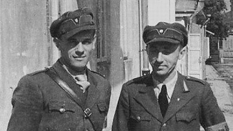 Омелян Грабець «Батько»  (зліва)