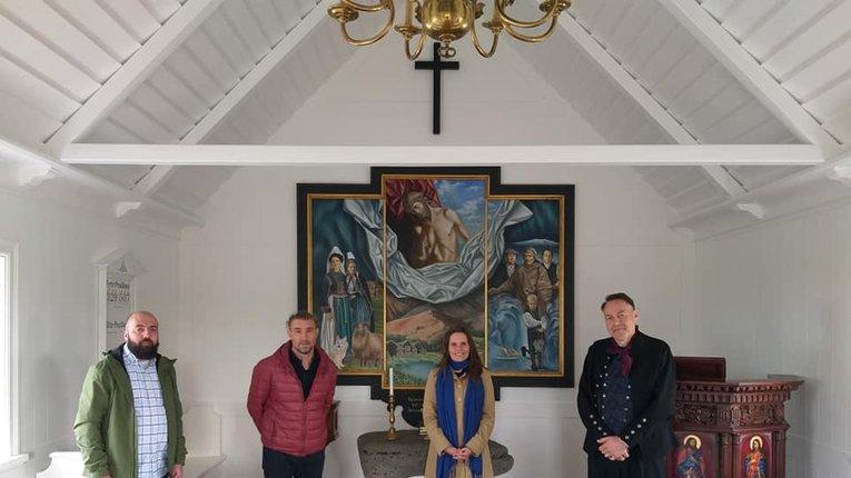 Український художник оздобив в Ісландії церкву