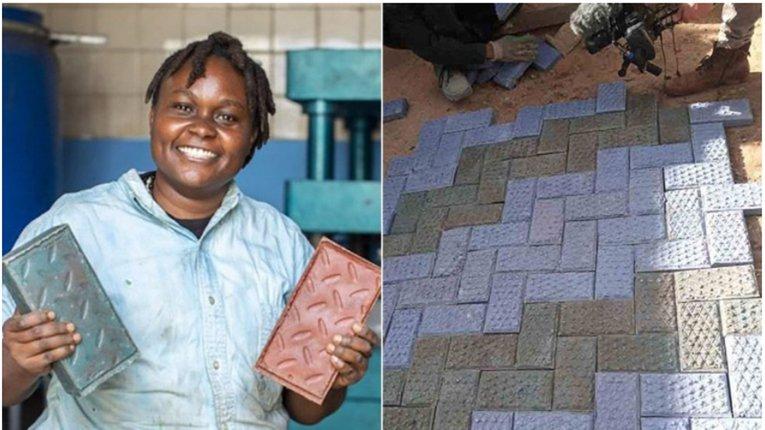 Цегла з пластику: кенієць винайшов унікальну технолоґію