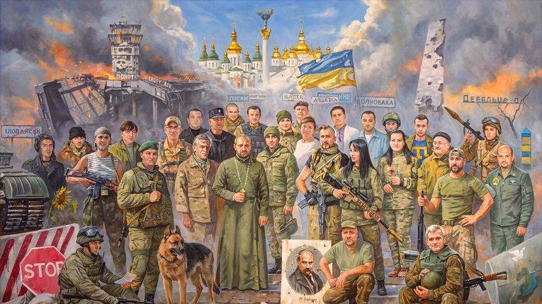 Увічнити сучасних Героїв України: відомий київський художник презентував нову роботу