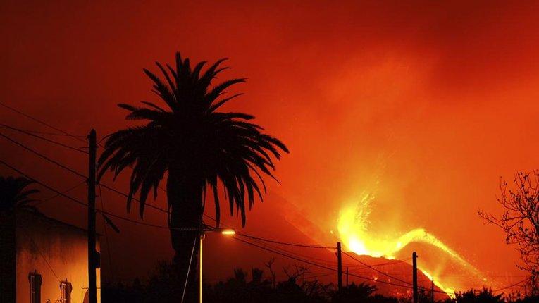 На острові Ла-Пальма відбулося виверження вулкану Кумбре-В'єха